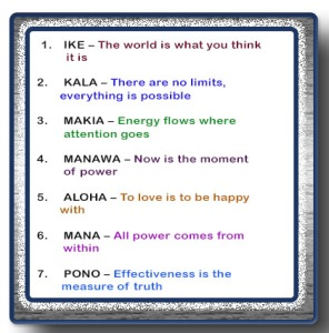 The Seven Principals of Huna